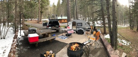 Site No. 18 in Black Canyon Campground, Santa Fe, NM